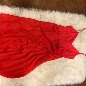 BCBG maxi flowing spaghetti strap dress